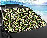 MYYDD Pare-Brise de Voiture Neige Glace Givre Soleil UV Pare-Brise poussière Soleil Protecteur de l'ombre dans Tous Les Temps, Grande Taille Convient à la Plupart des Voitures,B,148 * 125CM