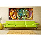 Tamatina Modern Art Canvas Paintings - Faces Of Life - Abstract Paintings Or Living Room, Bedroom, Office, Hotels, Drawing Room - Canvas Art Unframed - Large Paintings - Paintings For Living Room - Paintings For Bedroom - Abstract Wall Paintings.