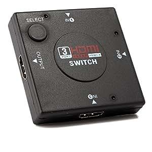 Neuftech® Switch /Splitter HDMI Répartiteur / Commutateur 3 Ports Convertisseur 1080P/3D v1.4 (3x1) compatible 3D, TVHD, PS3, Xbox One, 360, Blu-ray, Lecteur DVD, etc