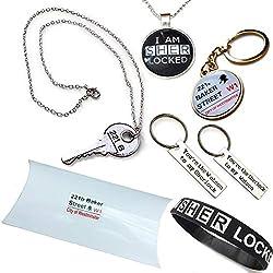 Orion Creations Sherlock Holmes 221B de Baker Street paquete de regalo. Collares, pulseras, pendientes y anillo dominante