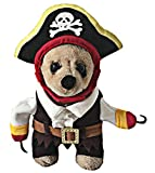 OSPet Funny Pet Clown Kostüm mit Kapuze für Kleine Hunde & Katzen Halloween Party Cosplay, XL, cos Pirate