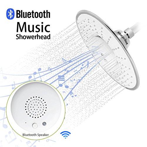 Preisvergleich Produktbild Morpilot® breite drenching runde Formspitze Regen-Dusche-Kopf mit wasserdichtem Musik-Jet-drahtloser Bluetooth Lautsprecher-Polierchrom-Duschekopf-Audio-Kasten Eingebauter Mic mit Anruf der Antwort-Anrufe