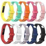 MoKo Armband für Fitbit Flex 2 - [10 Stück] Weich Sportarmband Sport Band Uhrenarmband Uhr Erstatzband für Fitbit Flex 2 Smart Fitness Watch, Armbandlänge 128mm-180mm, Mehrfarbig, S