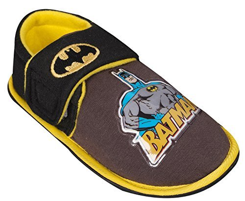 Batman Pantofole Da Bambino Con Cinturino In Velcro - Nero, 7 UK Child
