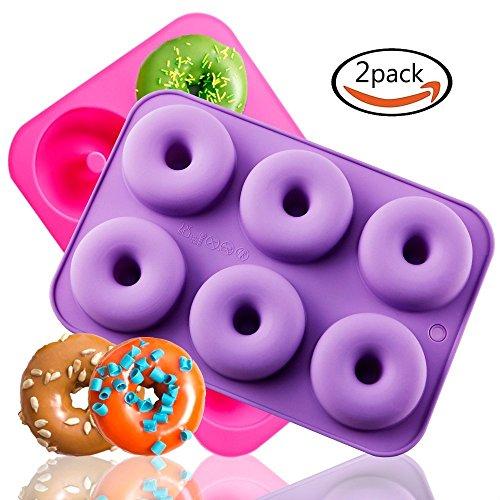 ck Silikon Donuts Backen Pfanne, Antihaft-Kuchen Form, einfach zu backen voller Größe Perfekte Donuts geformt, dass Ihre Familie und Kinder werden Liebe (Gesunde Halloween-leckereien)