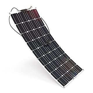 ALLPOWERS 18V 12V 100W Solar Panel Flexible Charger Solar Module Solar Charger Waterpoof Outdoor for Motorhome, Caravan, Camper, Boat/Yacht, 12V Battery Charge