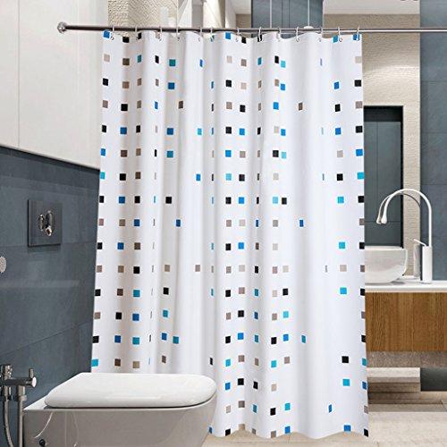 Rideaux de douche Rideau de douche PEVA matériel étanche salle de bains une variété de spécifications protection de l'environnement suspendus treillis (taille : 150×180CM)