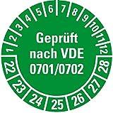 LEMAX® Prüfplakette Nächste elektrische Prüfung 22-25,grün,Dokufolie,Ø30mm,18/Bogen