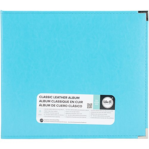 We R Memory Keepers Classic Leder 3Ring Album 12Zoll x 12Zoll Aqua (12x12 R Keepers We Memory Ring)