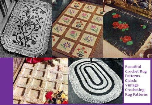 Schöne Crochet Rug Muster – Classic Vintage Teppich Muster häkeln