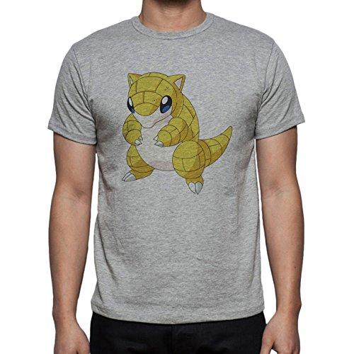 Pokemon Sandshrew Sand Ground Cute Yellow Herren T-Shirt Grau