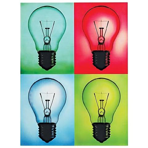 Design Toscano Pop Art Light Bulbs Metal Sign
