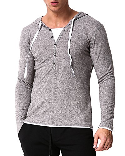 MODCHOK Herren Hoodie Kaputzenpullover Pullover Sweater Freizeit Casual Jacket