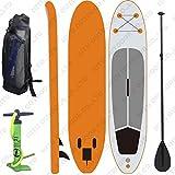 WEII Aufblasbares Wasserski-Surfbrett Sup Aufrecht Wasserski-Surfbrett,Orange,Einheitsgröße