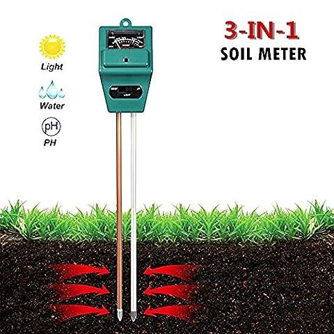 3-in-1 Soil Test Kit for Moisture, Light & PH, Kioneer Soil Meter Made for Garden, Farm, Lawn, Indoor & Outdoor (No Battery