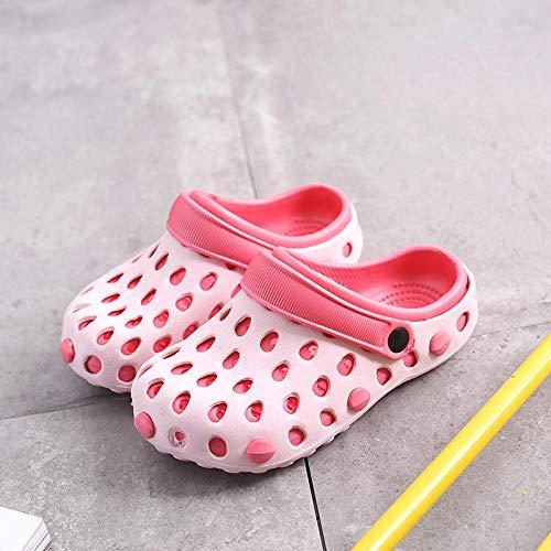 Ameginer Sandalen für Männer und Frauen Sandalen runden Kopf Sommer atmungsaktive Sandalen weiblichen Gartenschuhe Paar @ Brilliant_red_39 -
