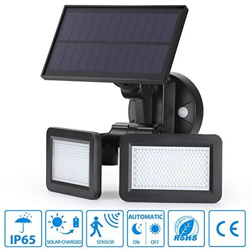 oeegoo LED Foco Lámpara Solar para exterior con detector de movimiento, 48LED...