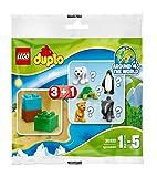 Lego Duplo Sorpresa paquete / bolsa misteriosa de la fauna 30322, 1 de los animales (por ejemplo, oso polar, pingüino, elefante, león, tortuga) + 3 Piedras
