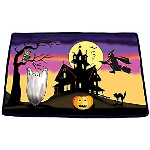 Halloween Scary Sounds Fußmatte–Hexen Schutzhülle Weich Deko Teppich