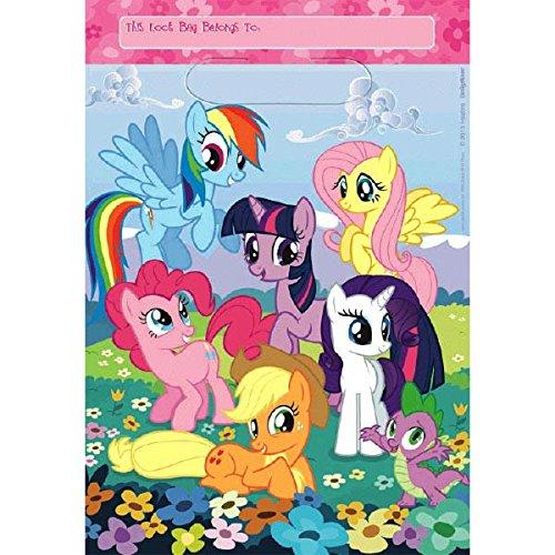 Little Pony 8 pcs sac de cadeau, plastique