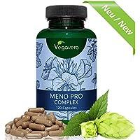 Meno Pro Complex Vegavero | Nachtkerze - Leinsamen – Salbei – Kamille - Hopfen - Melisse | LABORGEPRÜFT | Hochwertige Extrakte | 120 Kapseln | Vegan und OHNE chemische Zusatzstoffe