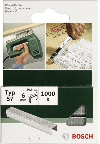 Bosch 2609255834 Set de 1000 agrafes à fil plat Type 51 Largeur 10 mm Epaisseur 1 mm Longueur 14 mm
