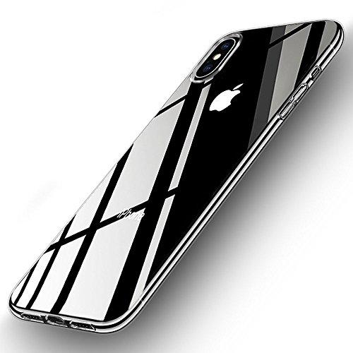 iPhone X Cover Trasparente, Korostro Custodia iPhone X Silicone Caso Crystal Clear Ultra Sottile Anti Graffio TPU Bumper Case Morbida Protettiva Case Cover per iPhone X