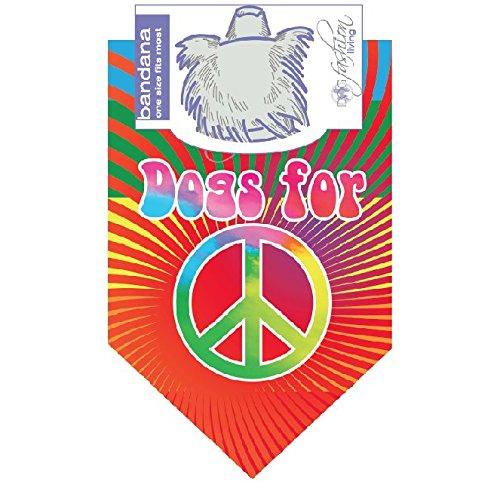 de für Frieden bunten Hund Bandana ()