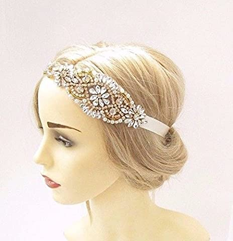 Starcrossed Boutique Gold Silber Elfenbein Perle Starcrossed Beauty I88Haarband Hochzeit Band 3347