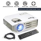 Videoprojecteur Full HD,Papake Retroprojecteur 1080P HD 3200 Lumens Retroprojecteur LED Portable Résolution Soutenir 1280 X 800 HDMI/VGA/USB/TV/AV/Xbox Jeux Multimédia intérieur et extérieur Cinéma