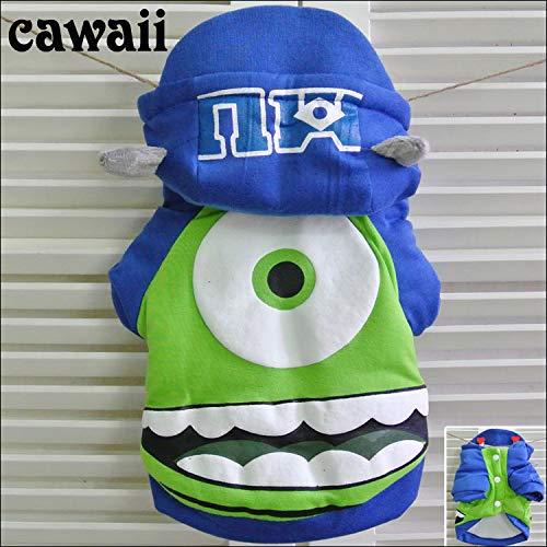 Mike Monster Kostüm Wazowski - Hot Dawgs Mike Wazowski Monsters Inc. Hunde-Kostüm Kapuzenpullover