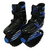 Unisex-Antigravitationlaufstiefel für Erwachsene, zum Rennen, Springen und Hüpfen, mit ca. 20 bis 100kg belastbar XXL schwarzblau
