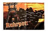 Flaggenfritze® Flagge Deutschland Ruhrpott Ruhrgebiet - 30 x 45 cm
