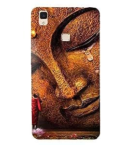 PrintVisa Lord Gautam Buddha 3D Hard Polycarbonate Designer Back Case Cover for vivo V3Max