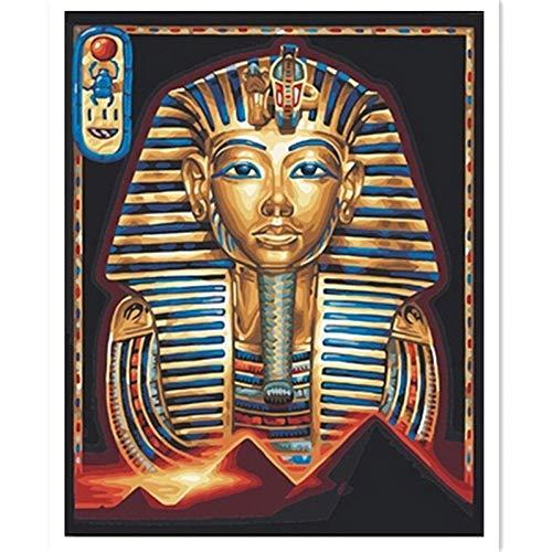(ZUANSHIGE Volle Runde Quadrat Bohrer Ägyptische Pharao Maske DIY Diamant Stickerei Handarbeiten 5D Diamant Malerei Kreuzstich-40 * 45Cm)
