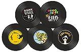 Gewa 975050 Untersetzer Design Retro Vinyl Schallplatte, 5 Stück