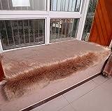 BOXLVSYX Fensterkissen, Reine Farbe, künstliche Wolle, für Erkerfenster, Dickes Anti-Rutsch-Fenster-Matte, Fenster-Decke, modisch, 10 Farben, weiche Decke, 70 x 180 cm