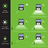 Mpow Solar Lights Motion Sensor Security Lights 3-in-1 Waterproof Solar Powered Lights Outdoor Lights for Garden, Fence, Patio, Yard, Walkway, Driveway, Stairs, Outside Wall etc. (3 Intelligient Modes, 8 LED) Bild 4