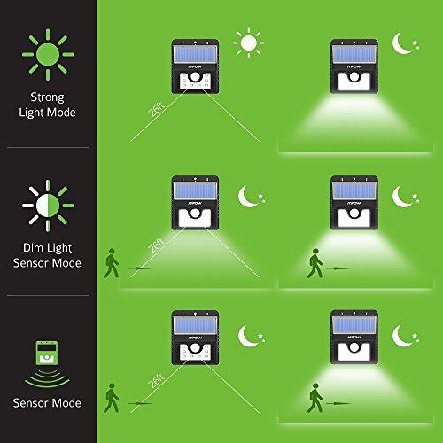 Mpow Solarleuchte 8 LED Solarlampe Sicherheits-, Bewegungs Licht Sensor mit 3 Intelligenten Modi für Garten usw. - 6