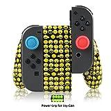Support de Recharge pour Joy-Con avec Batterie Rechargeable Intégrée 1200mAh, Grip chargeur pour Nintendo Switch, USB Type C Câble de charge et 2 Grips de Précision Inclus (Emoji)
