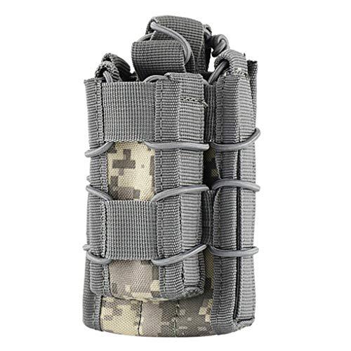 Luckiests Nylon Modular Open Top Doppelmagazintasche Military Airsoft Kampf Gear Bag -