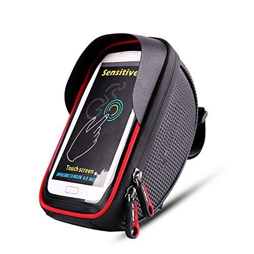 FYBOOR Fahrradrahmen-Tasche 6 '', wasserdichte Fahrrad-Handy-Halterungs-Radfahrenvorderes Oberrohr-Tasche Für iPhone XS MAX XR X Samsung Usw. Smartphones