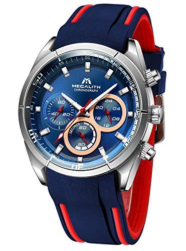 Herren Uhren Männer Militär Sport Wasserdicht Chronographen Große Armbanduhr Mann Leuchtend Business Fashion Modisch Designer Analoge Gummi Uhr