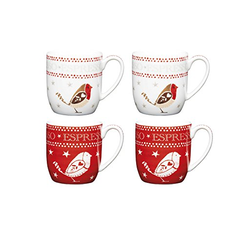 kitchencraft-little-red-robin-weihnachten-espressotassen-set-4-stuck