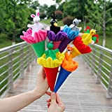 Senooow 6 Stück Tiere Puppets Versteckspiel Baby Kids Pop Up Cone Spielzeug Pädagogisches Lustiges Spielzeug