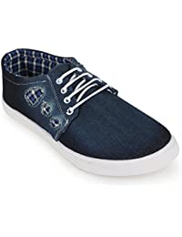 Scantia Casual Canvas Loafers Shoes For Men's _Colour_ Blue _ With Latest Fashionable Trail Stylish Look_ (Aluminium...