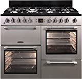 Leisure CK100F232 Gas Stove A Silver - Ovens and Cookers (Cooker, Silver, Rotating, Front, Electronic, LED)