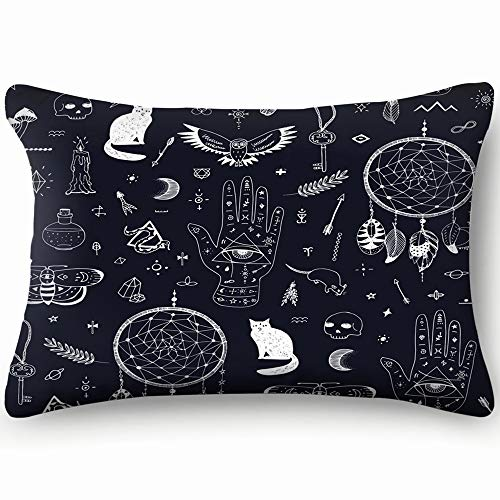 wn Objects Witchcraft Objects Home Decor Wedding Gift Engagement Present Housewarming Gift Cushion Cover 20x30 inch ()