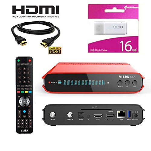 Kit Receptor VIARK DROI DIGITALIA- Regalo Cable HDMI + USB 16GB