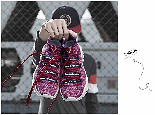 Uomini Traspirante Atletico Scarpe Nuovo Leggero In Esecuzione Scarpe Coppia Calzini Scarpe Moda Casuale Scarpe Rosa